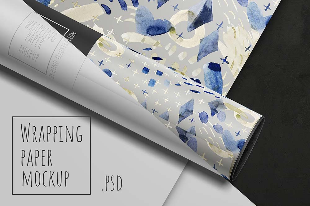 Wrapping paper mockup
