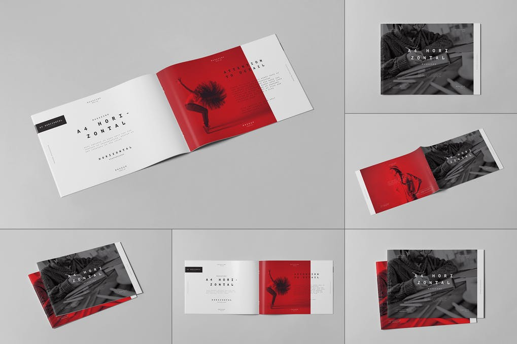 A4 Horizontal Brochure Mock-up