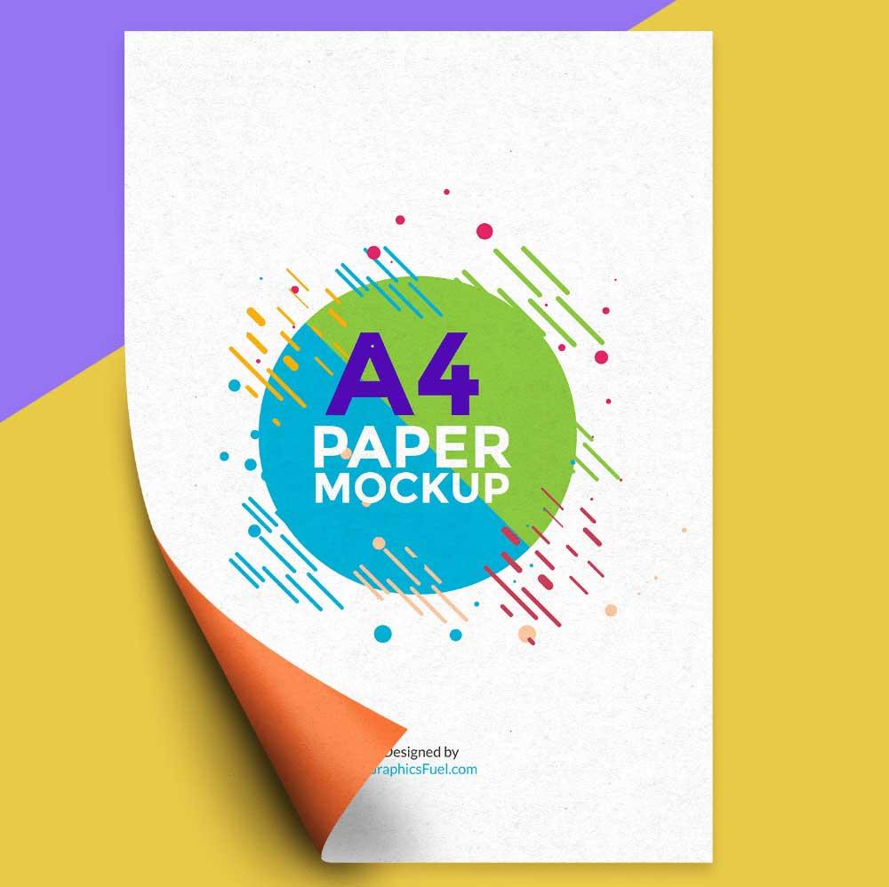 Best A4 Paper Mockup PSD Templates