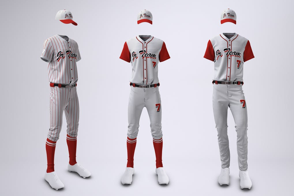 Baseball Team Uniform Mock-up