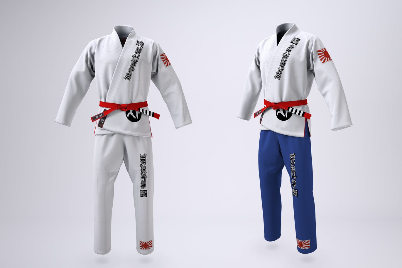 Brazilian Jiu-Jitsu Gi Uniform Mock-up