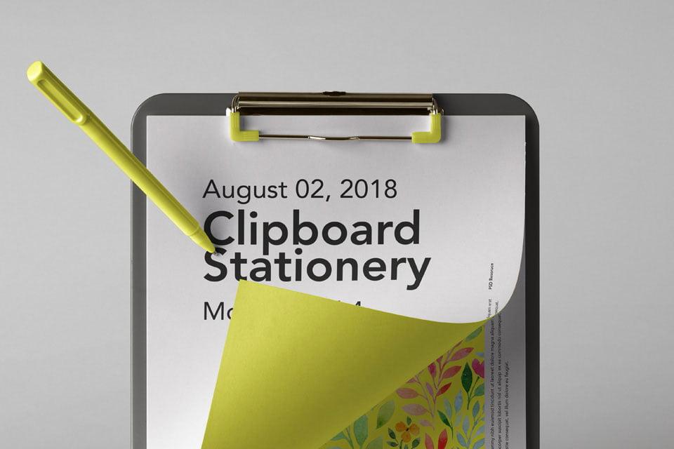 Clipboard Mockup PSD Templates