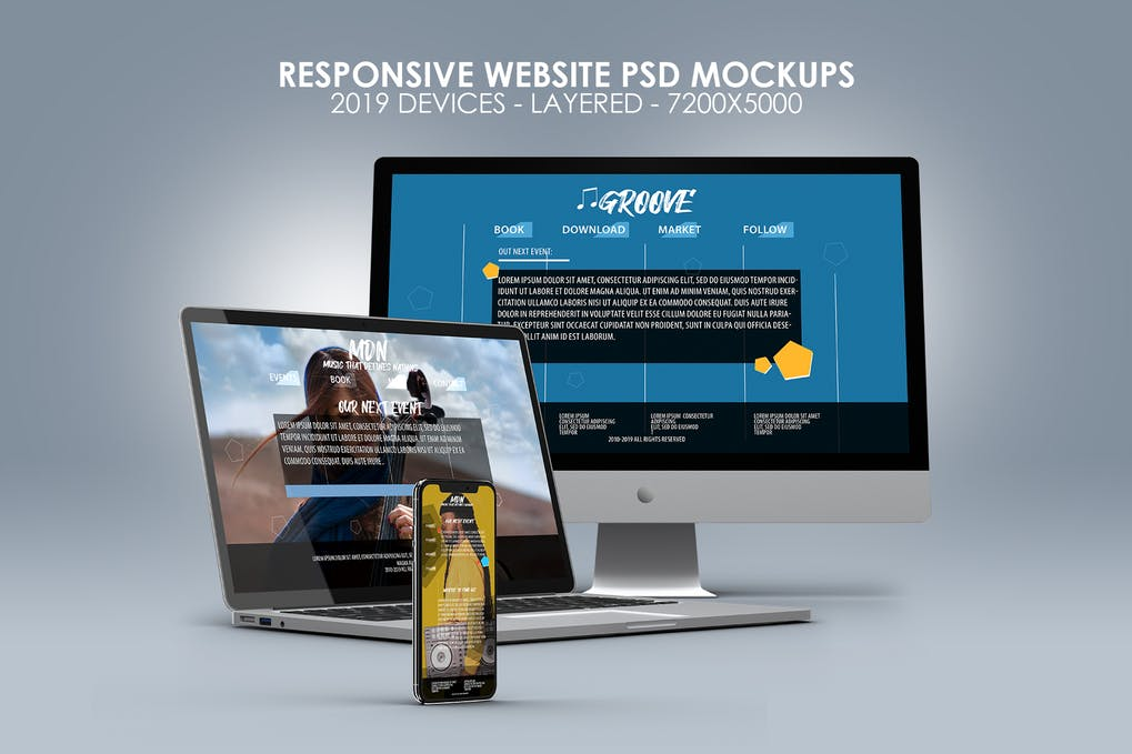 Devices PSD Mock-ups