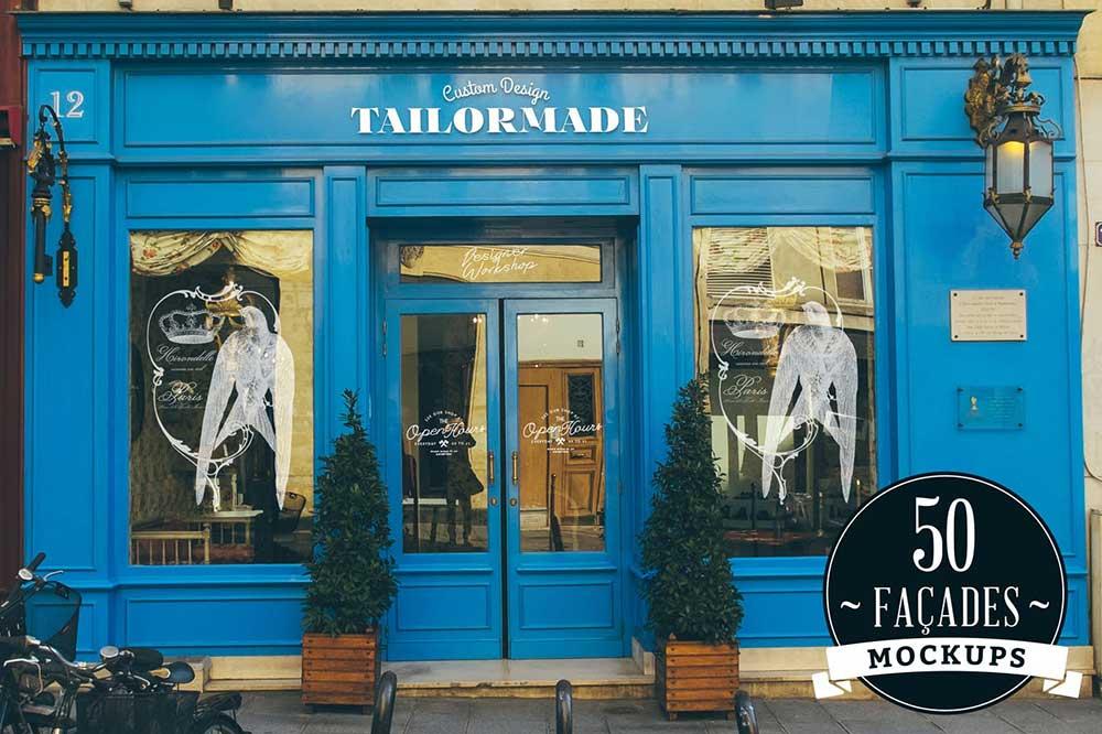 50 Storefront / Facades mockups