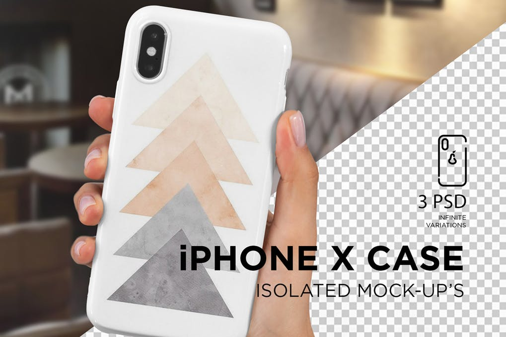 iPhone X Case Mock-Up Isolated