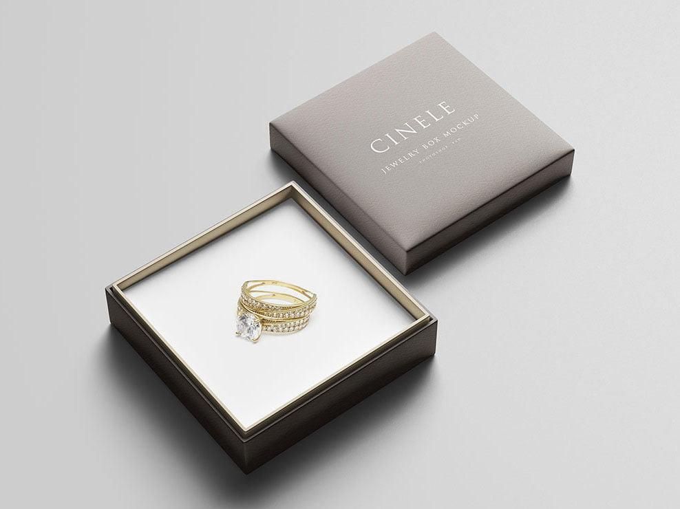 Jewelry Box Mockup PSD Templates