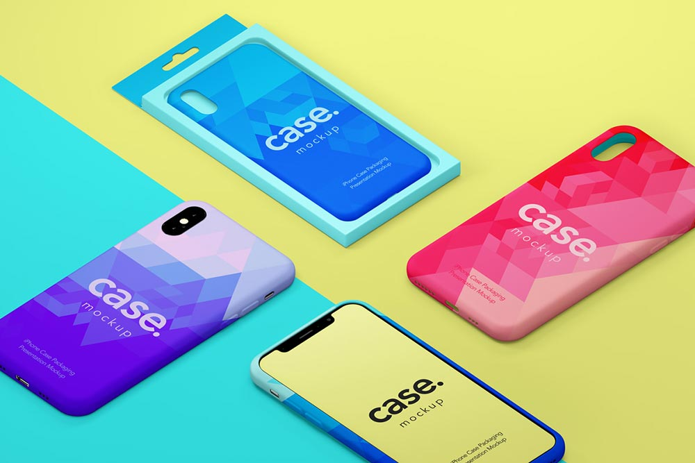 iPhone Case Mockup PSD Templates