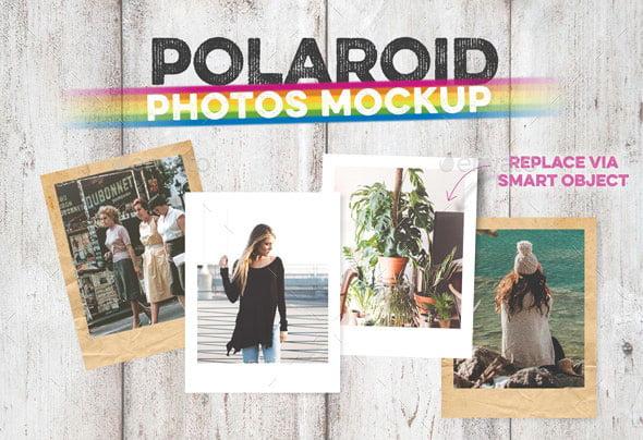 Polaroid Photos Mockup