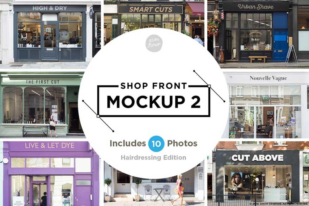 Shopfront / facade mockup