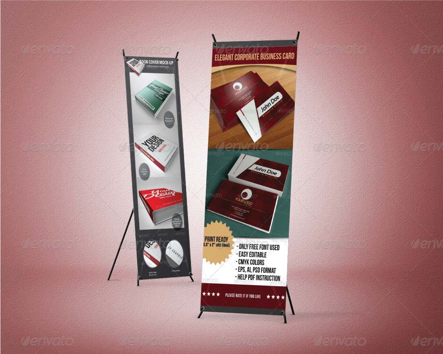 Standing X-Banner Mockup