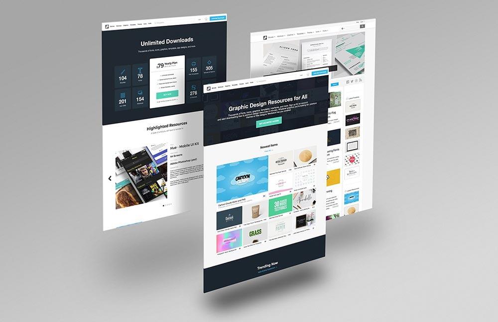 Website Mockup PSD Templates