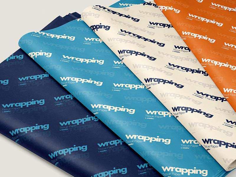 Wrapping Paper Mockup PSD Templates