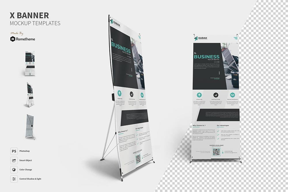 X-Banner Mockups Template