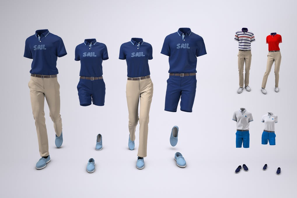 Yacht Crew Uniform Mock-Up