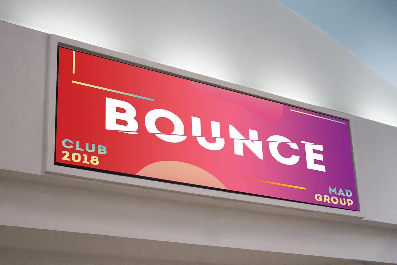 Horizontal Lightbox Billboard Mock Up