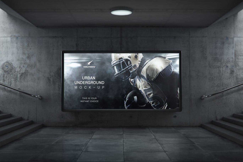 Urban Underground Lightbox / Billboard Mock-Ups