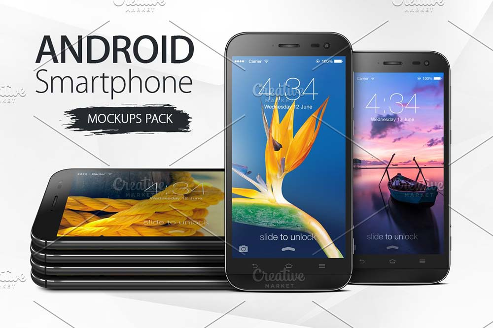 Android Smartphone Mockups Pack