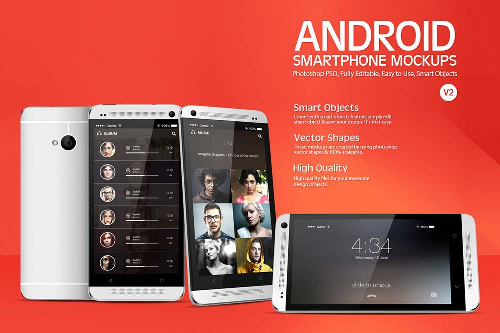 Android Smartphone Mockups