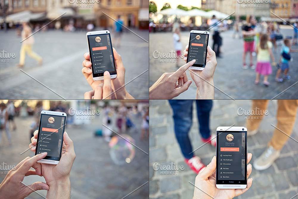 12 Android photo mockups