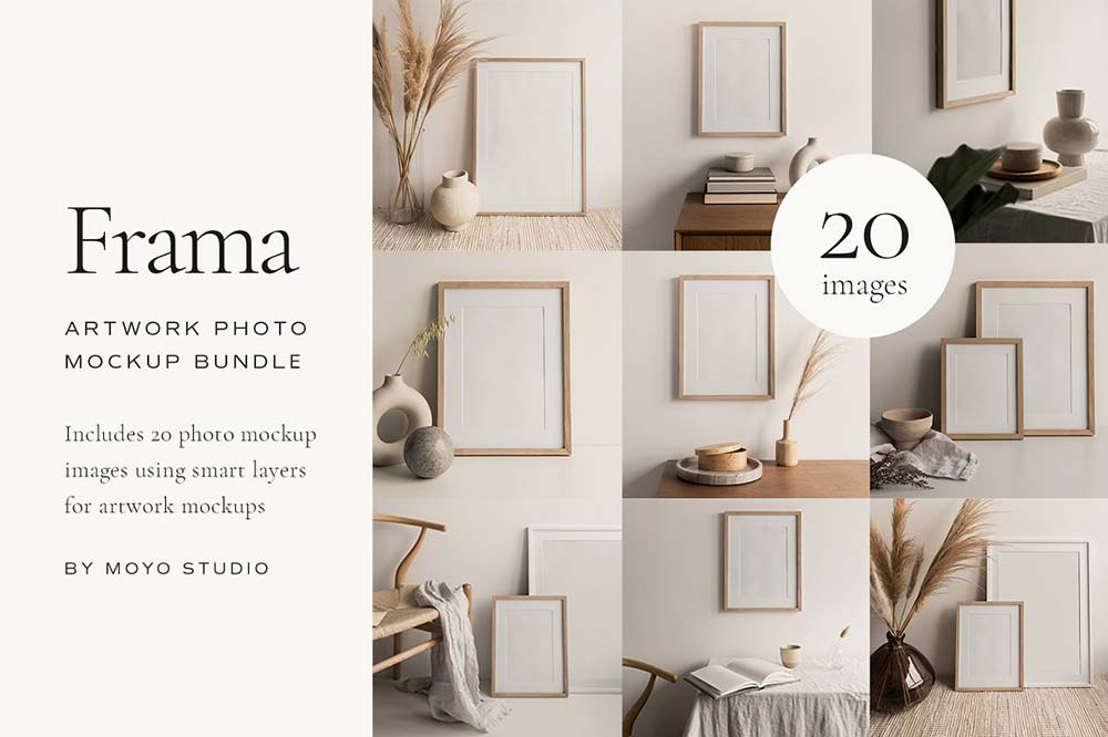 Artwork Frame Photo Mockup Bundle