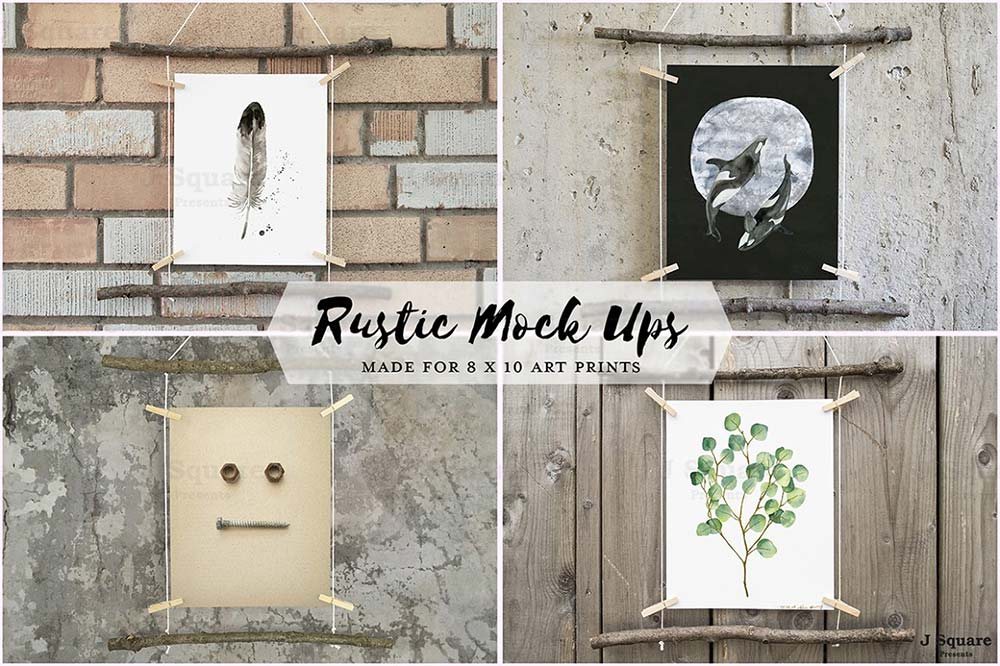 Artworks Rustic Mock Ups