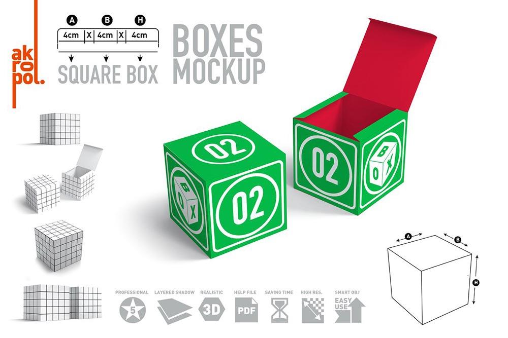 Cube Box Mock Ups