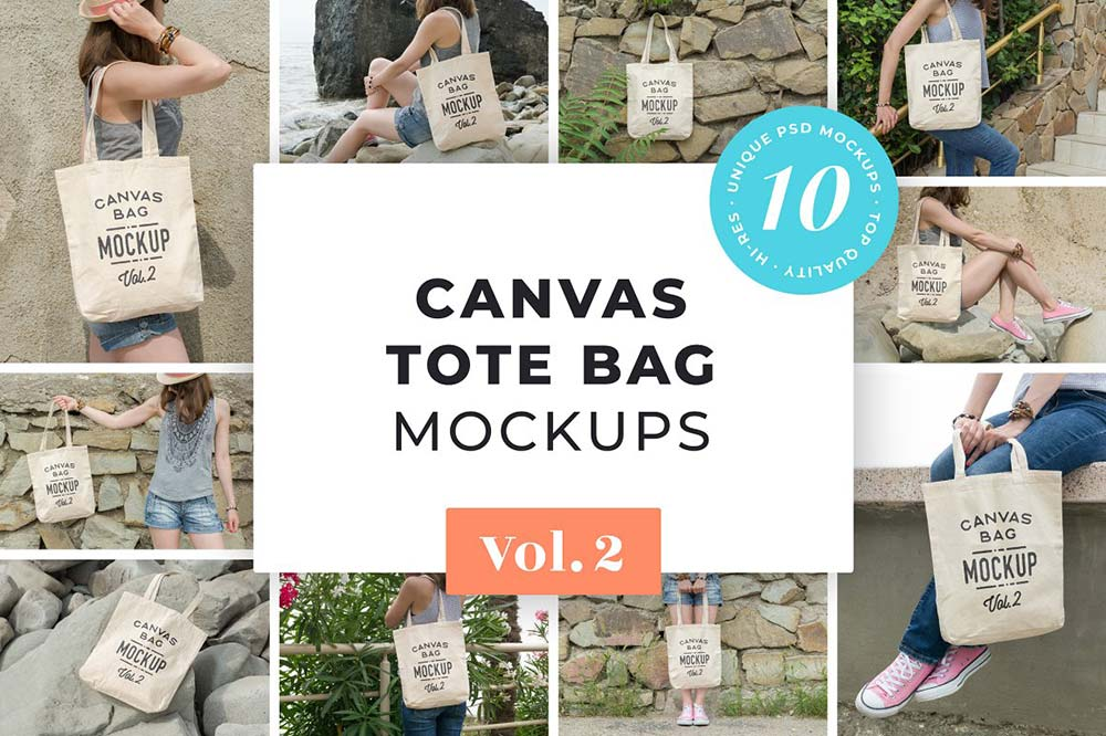 Canvas Tote Bag Mockups Pack