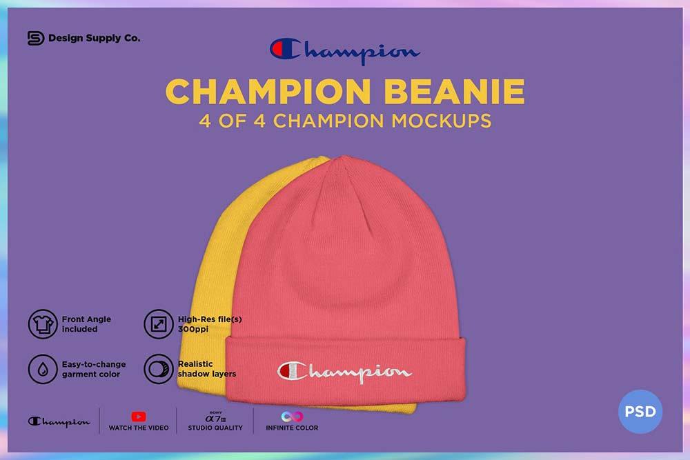 Champion Beanie Mockup