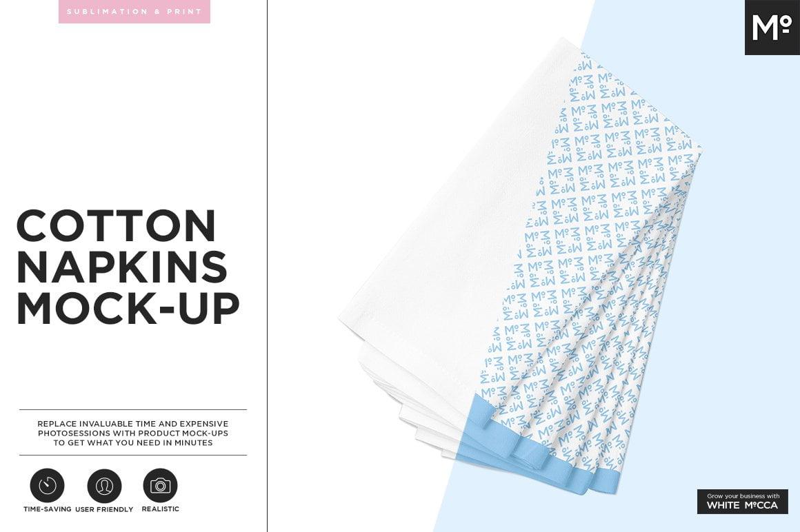 Cotton Napkin Mock-up