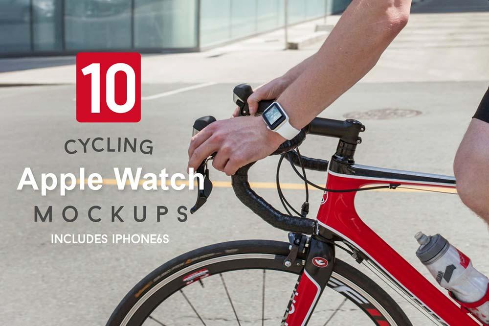 10 Cycling Apple Watch Mockups