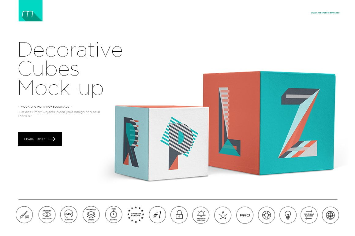 Decorative Cubes Mock-up