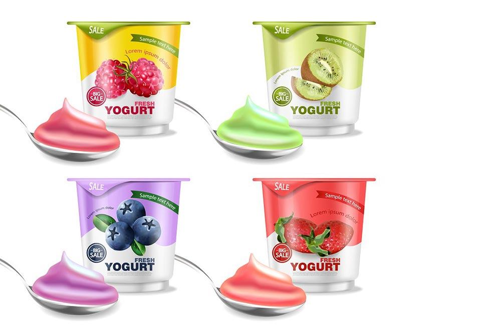 Fruit yogurt bundle mockup
