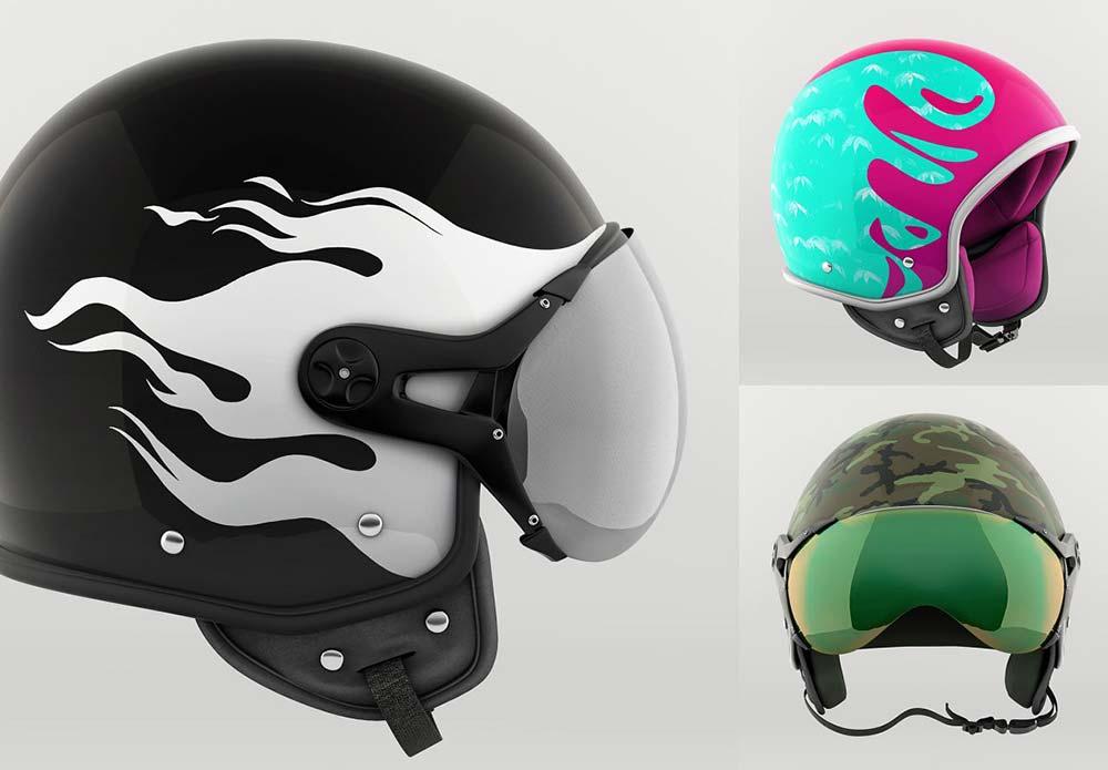 Helmet Mockups set