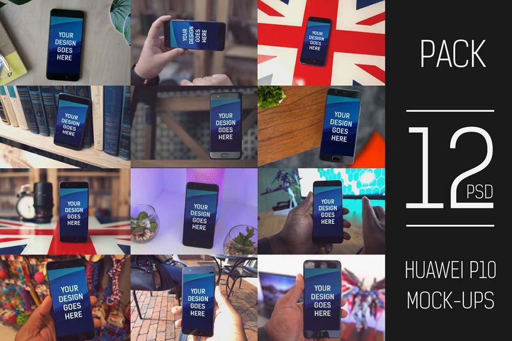 Huawei P10 Mock-up Pack