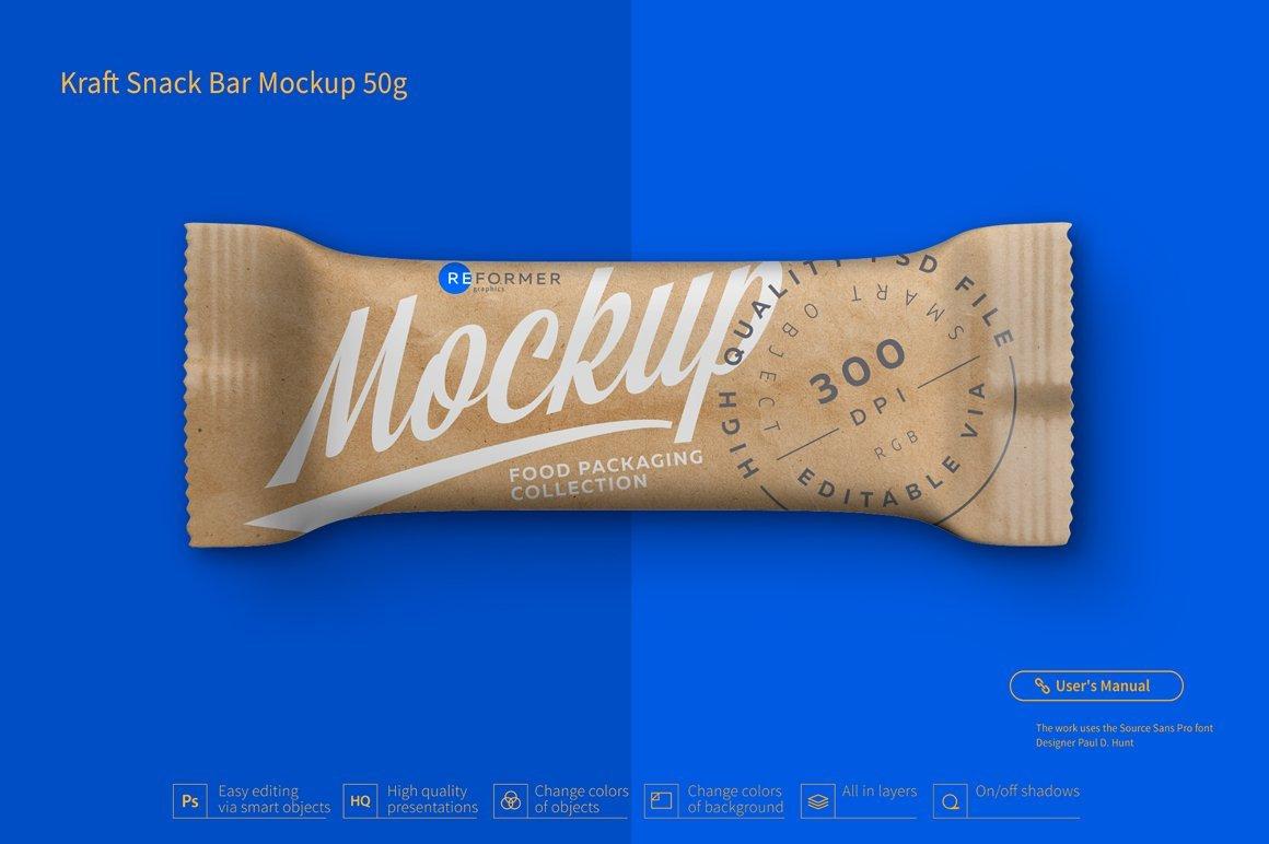 Kraft Candy Bar Mockup