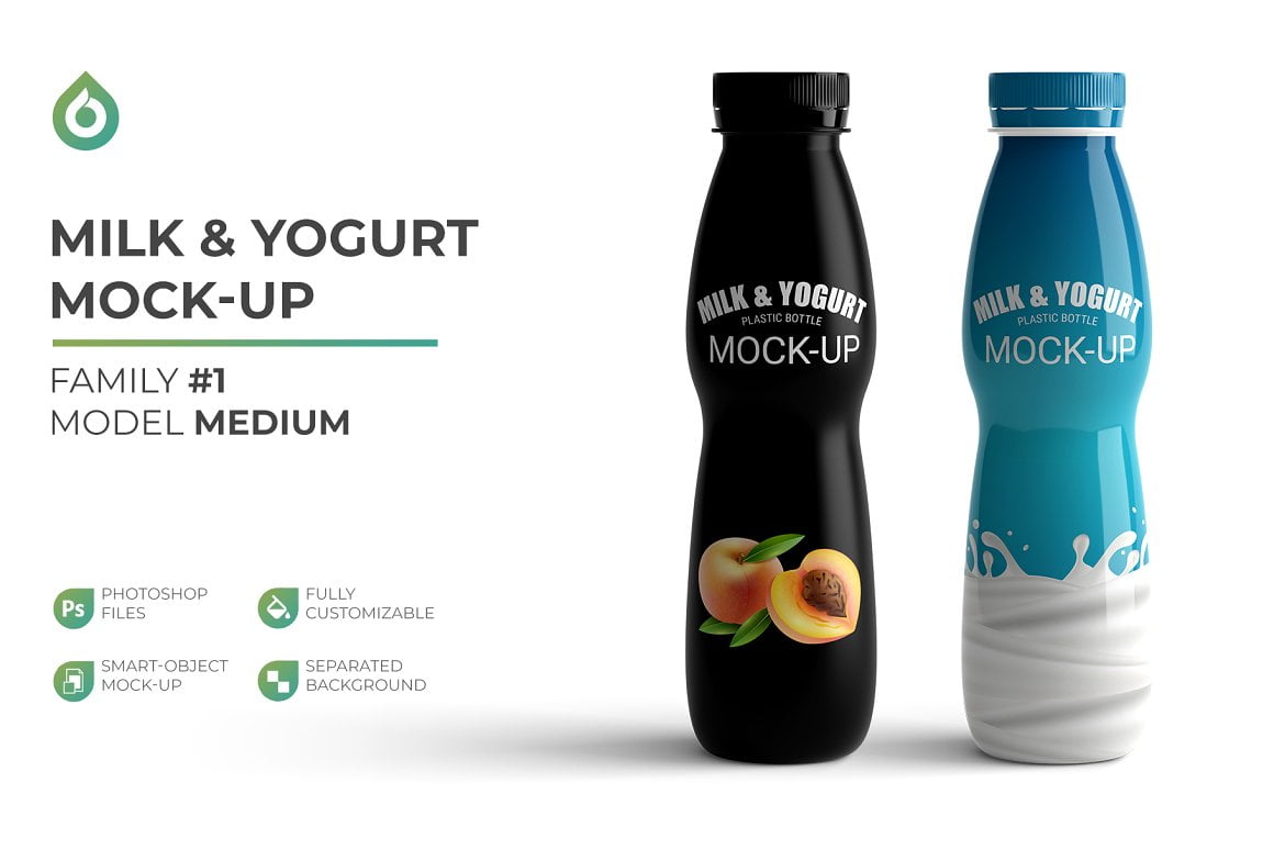 Milk Yogurt Mockup
