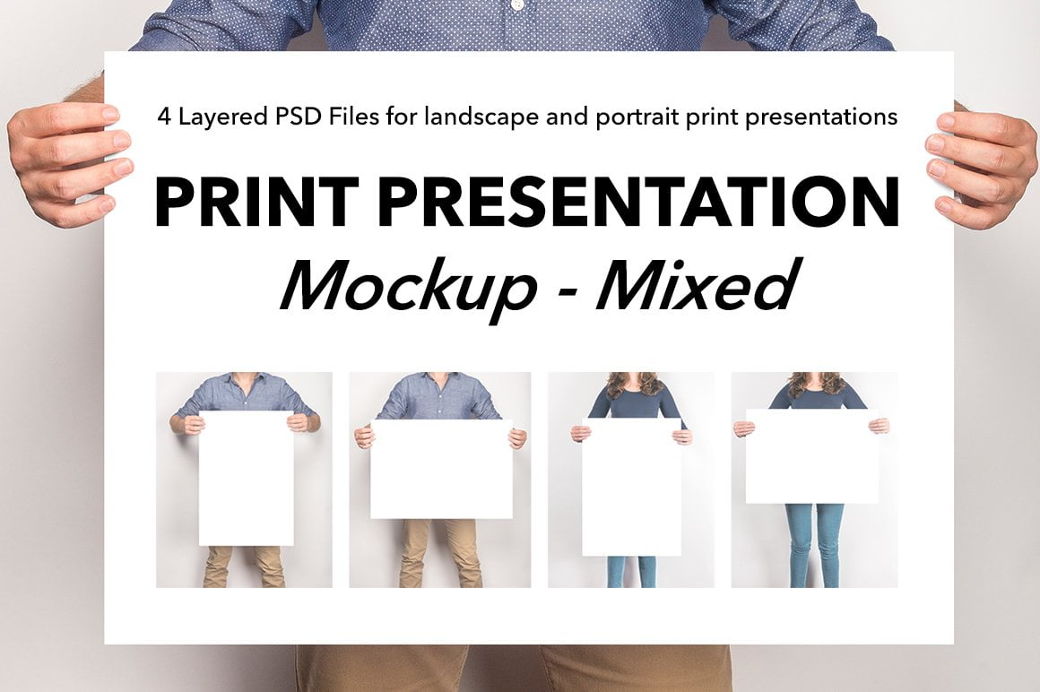 Mixed Artwork Presentation Mockup