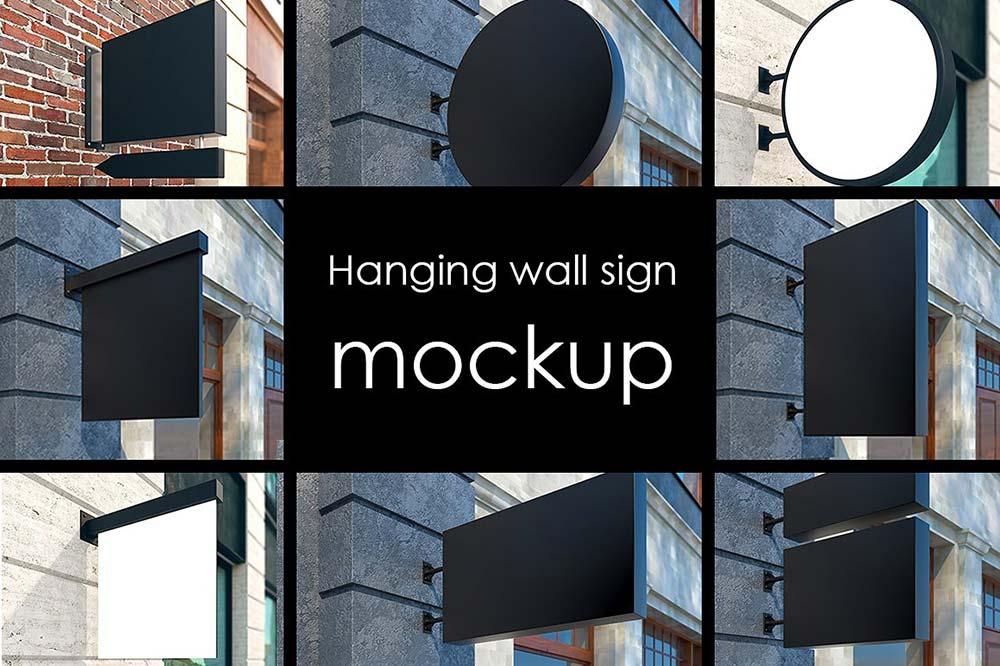 22 street signs Mockup