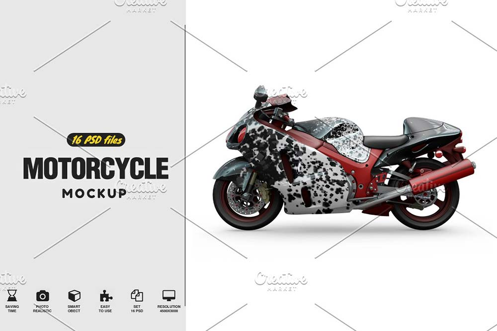 Motorcycle Mockup