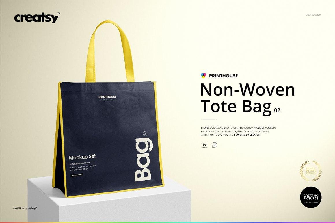 Non-Woven Tote Bag 2 Mockup Set