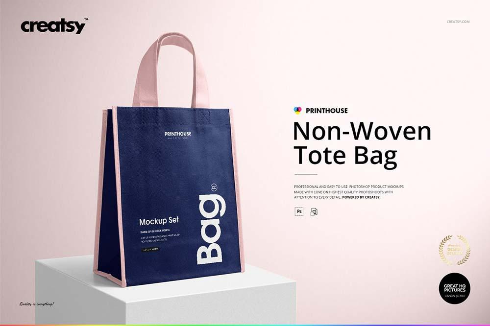 Non-Woven Tote Bag Mockup Set