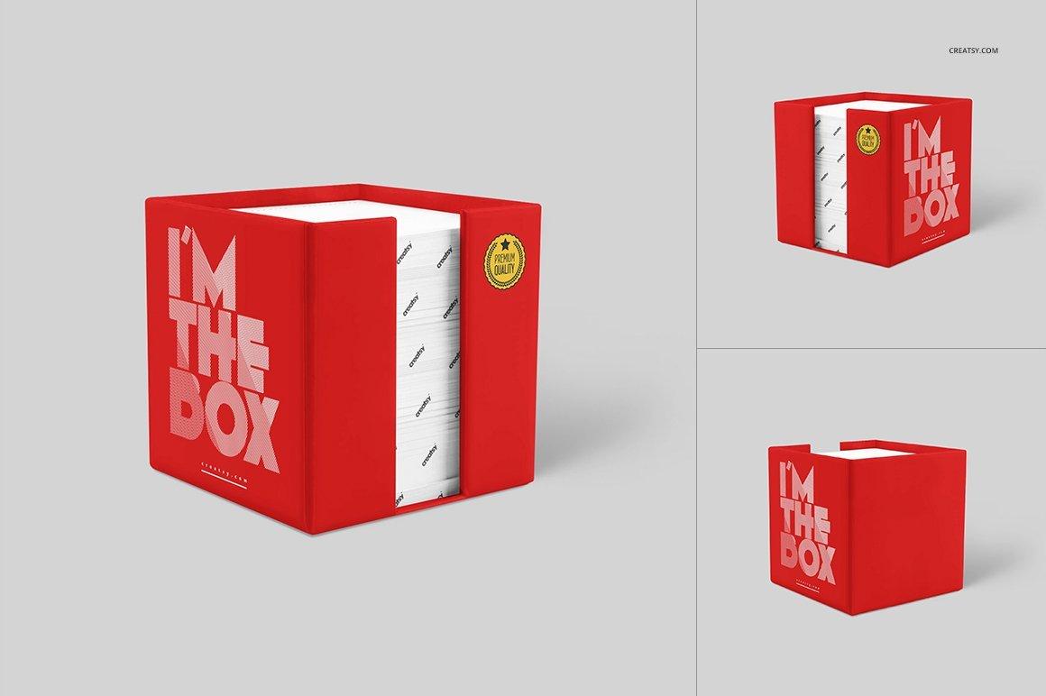 Note Cube Holder Mockup Set