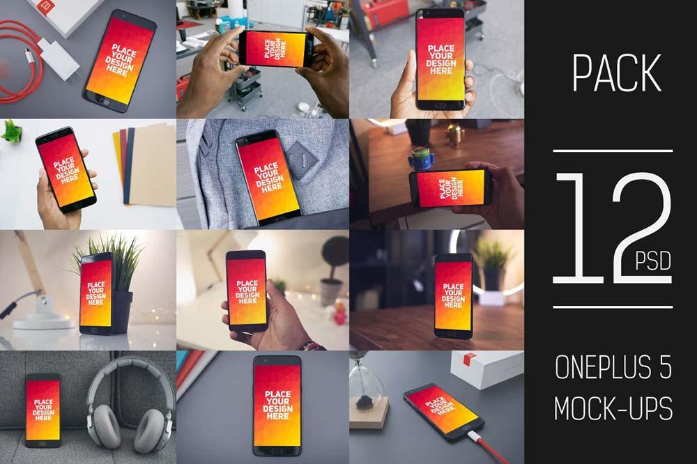 OnePlus 5 Display Mock-up Pack