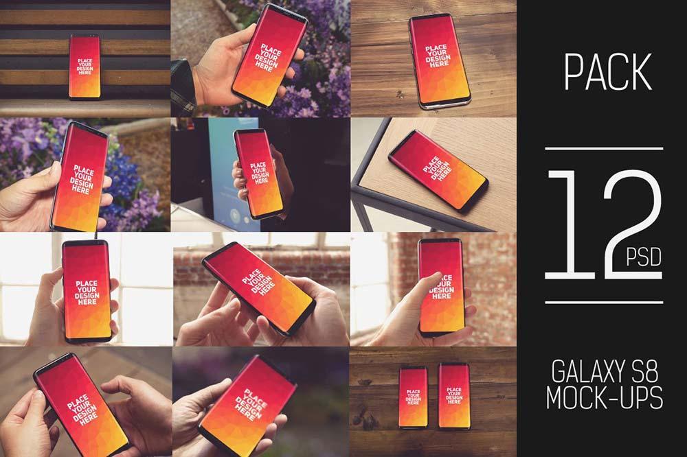 12 PSD Samsung Galaxy S8 Mock-up