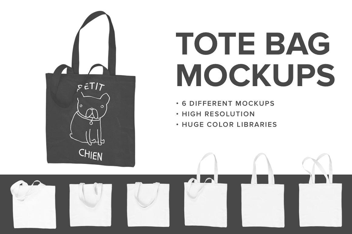 Premium Tote Bag Mockups