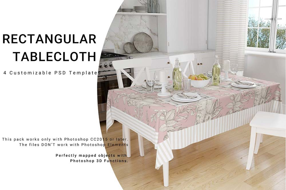 Rectangular Tablecloth Set