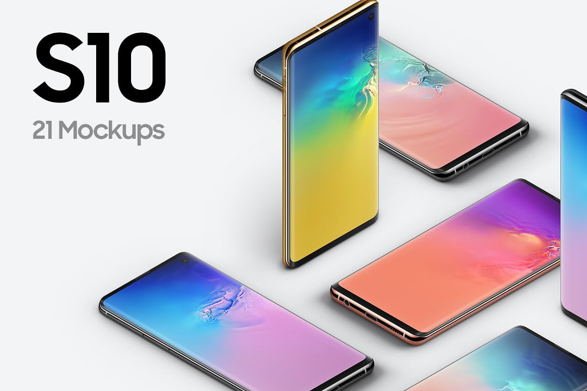S10 Android - 21 Mockups