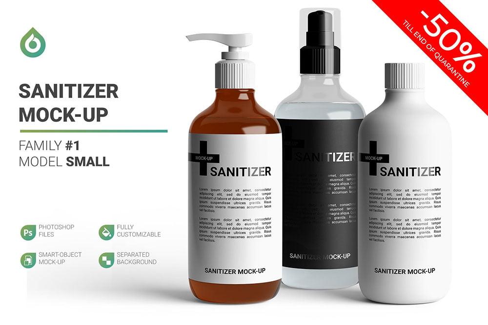 Sanitizer Bottle Mockup