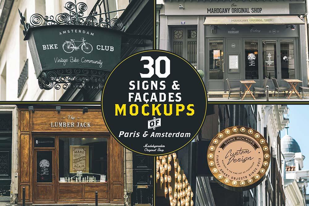 30 Signs & Facades - Paris/Amsterdam