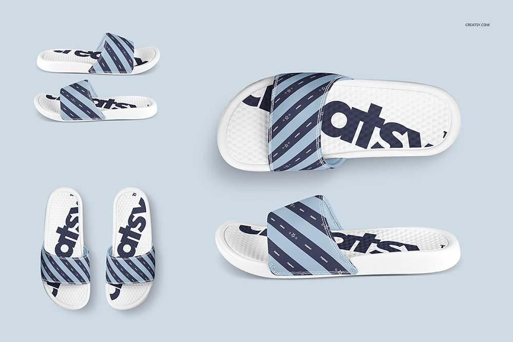 Slide Sandals Mockup Set